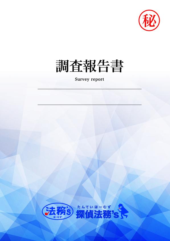 不倫、浮気調査の報告書